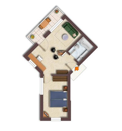 "Floor plan for the ""Suite"" room category"